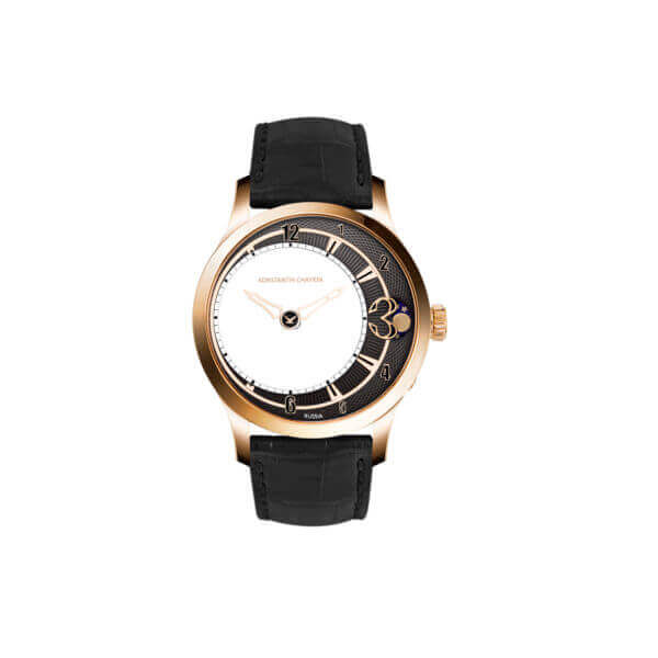 Levitas 44 NEW gold black dial front view