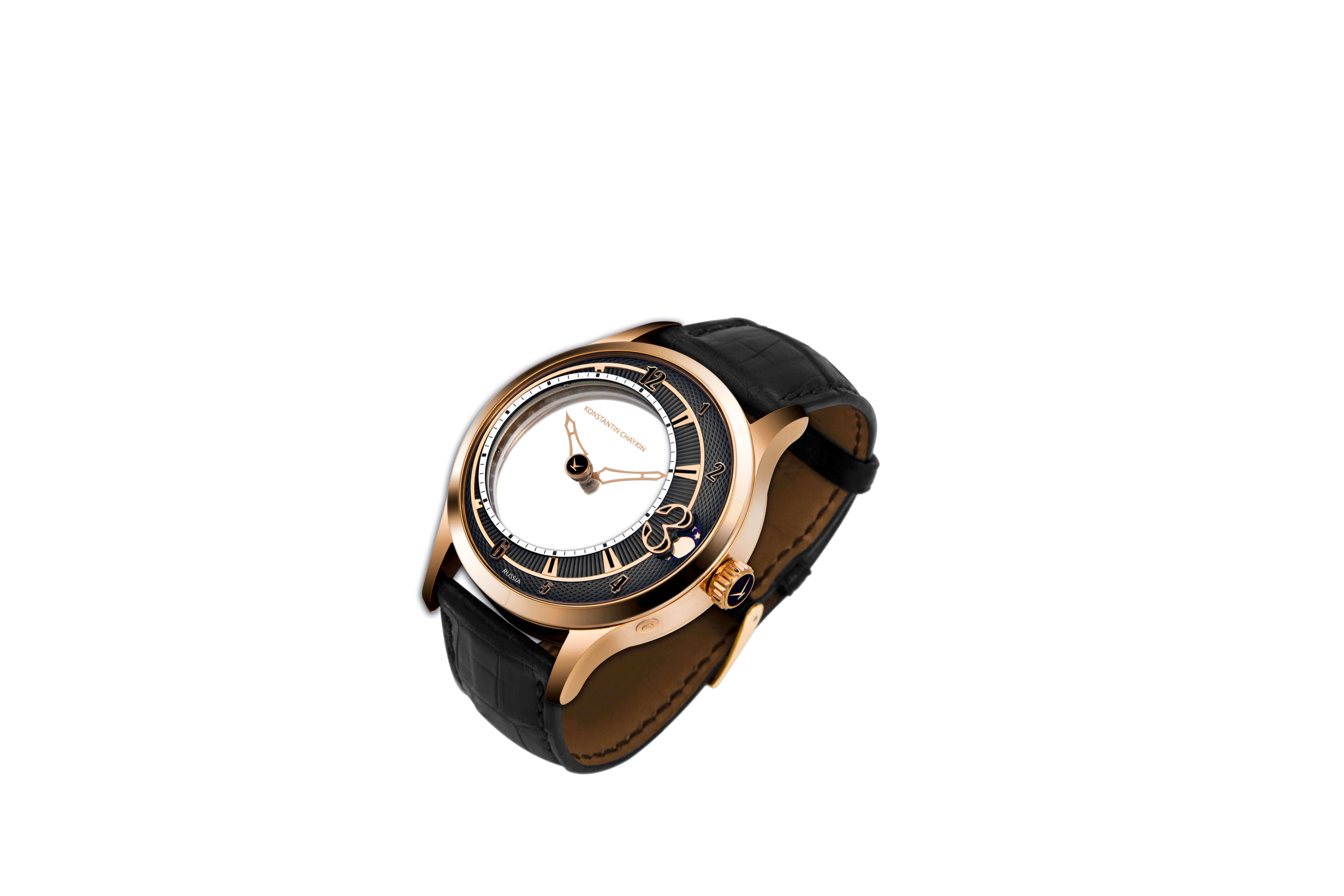 Levitas 44 NEW gold black dial side view