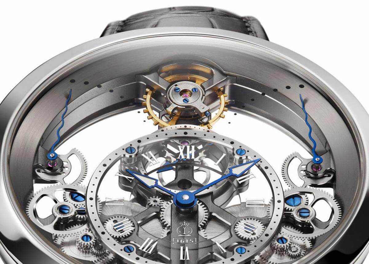 Arnold and Son Time Pyramide Steel detail