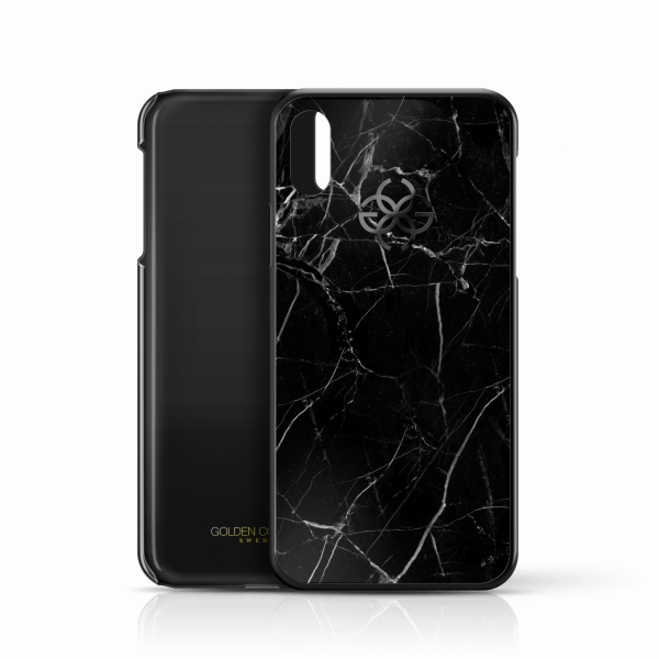 iphone x marble cover black black