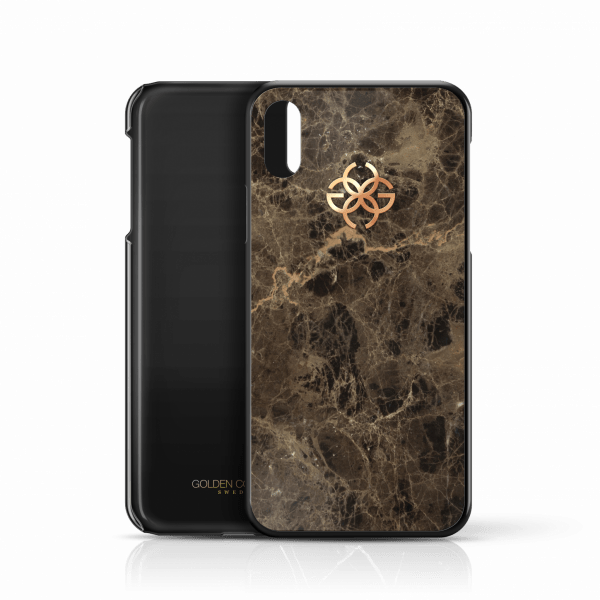 iphone x marble cover brown rose gold