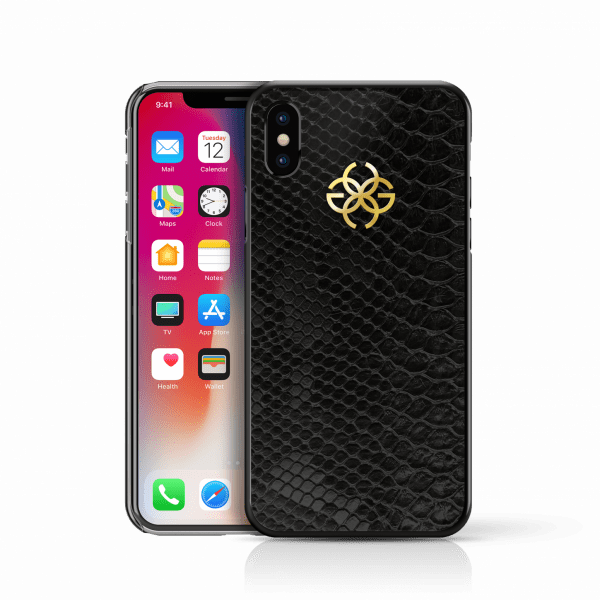iphone x python cover black gold2