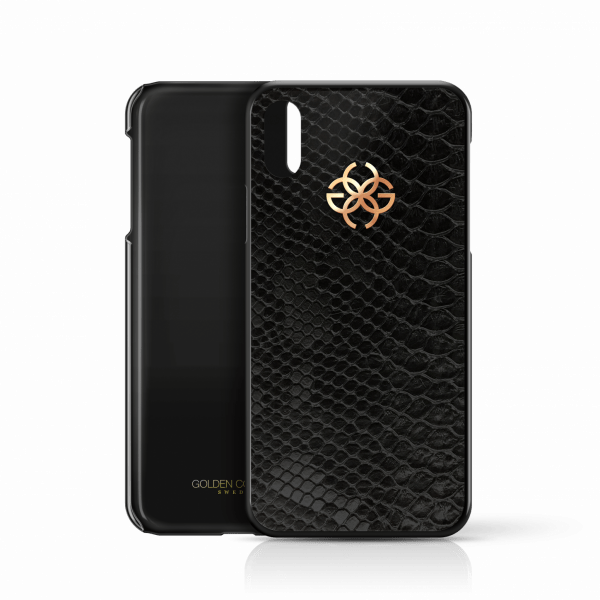 iphone x python cover black rosegold