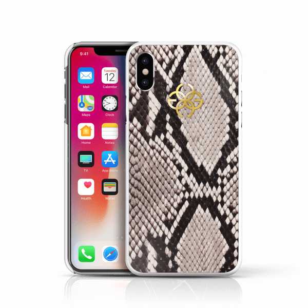 iphone x python cover nude rose gold